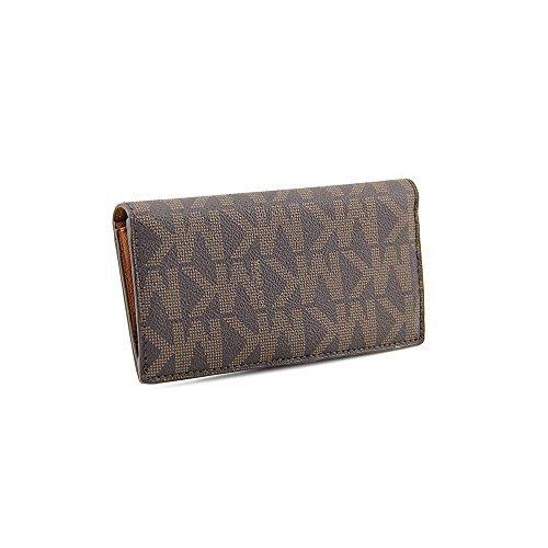 85f9801c4eacd5 Michael Kors MK Logo Signature Slim Snap Wallet - Buy Online in Oman ...