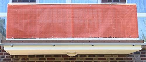 Jinju Terracotta 0,9 Metros de Ancho PE Revestimiento de balcón, Cortavientos, privacidad y protección UV para Balcones, Jardines, Camping y recreación: Amazon.es: Jardín