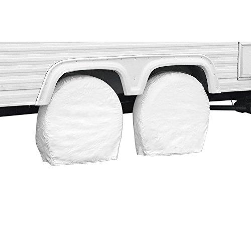 Classic Accessories 76230 RV Wheel Cover, Pair, White, 24