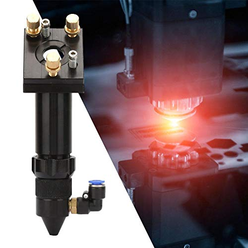 CO2 Laser Head Aluminum Replacement Laser Head with Diameter 20mm 50.8/101.6mm Focal Length for CO2 Laser Cutter Engraver DIY(with Mount Plate)