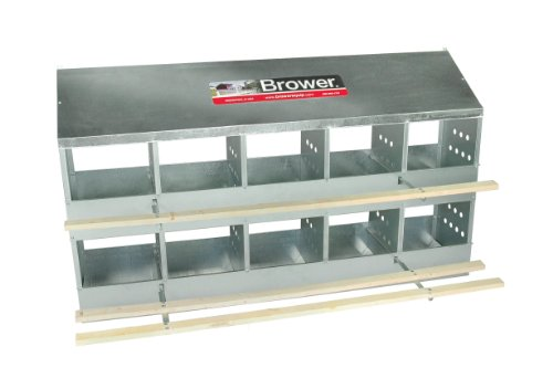 Brower 410B Poultry 10-Hole Nest ()