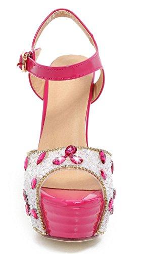 d1a6b0cd473081 YE Frauen Peeptoes 13 cm Heels High Heel Plateau Stiletto Knoechelriemchen  Party Elegante Pumps Mit Pailletten ...