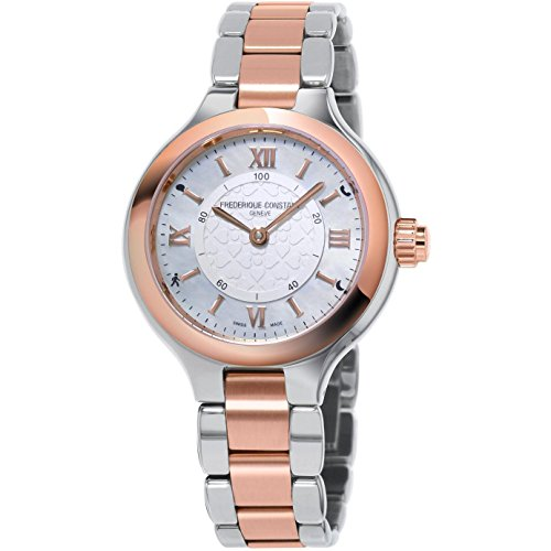 Frederique Constant Women's Smartwatch 34mm Two Tone Steel Bracelet Steel Case Quartz Watch FC-281WH3ER2B