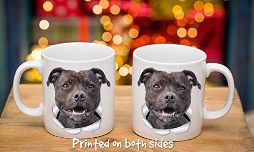 Happy American Staffordshire Terrier Mug – Staffie Ceramic Coffee Mug - Perfect Staffordshire Bull Terrier Gifts - Funny Cute Staffordshire Terrier Dog Coffee Mug for Dog Lovers and Owners (11oz) 7