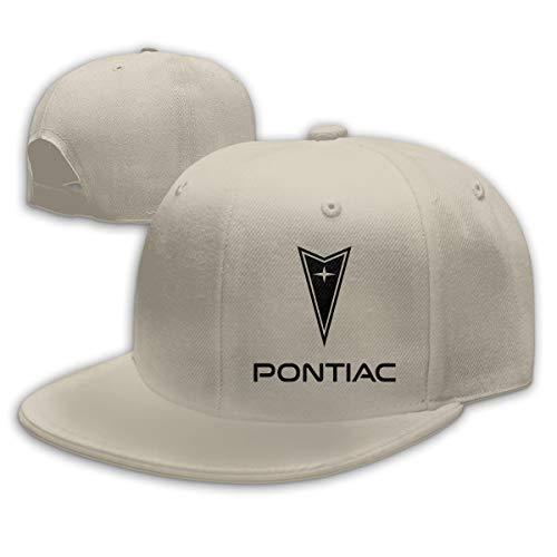 ZaHome Women's Pontiac Black Logo Cotton Baseball Snapback Cap Adjustable Structured Fit Caps