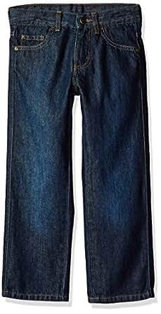 Wrangler Boys Authentics Relaxed Straight Jean Jeans - Blue - 10 Husky