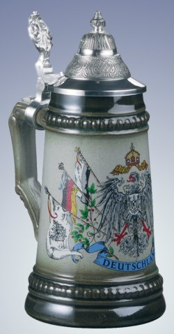 German Beer Stein with Germany Flags 1/8L