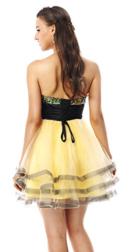 Line Strapless Prom Charmian Cocktails Short Women's Gelb Nostalgic Party Empire Sequins A Homecoming Waist Senior 2016 Dresses qxnUgwnf