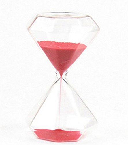 Graces Dawn Diamond glass Hourglass Sand Timer 60 minutes with (red) ()