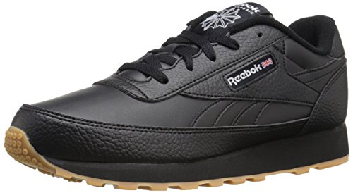 Black Men's Renaissance Shoes (Reebok Men's CL Renaissance Gum Classic Shoe, Gum/Black/White, 13 M US)