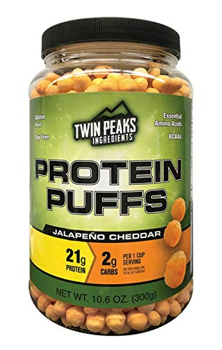 ts Protein Puffs - Jalapeño Cheddar 300g (10 Servings), 21g Protein, 2g Carbs, 120 Cals, High Protein, Low Carb, Soy Free, Gluten Free, Potato Free - Best Protein Snack ()