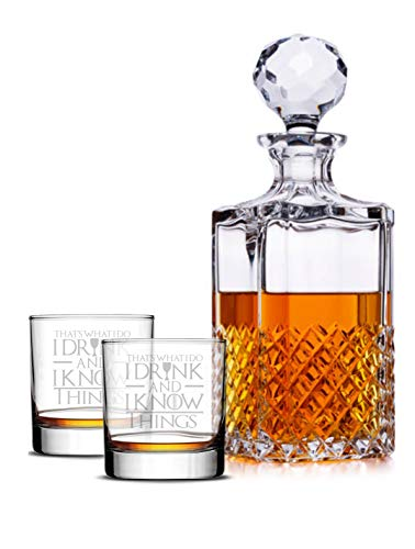 I Drink And I Know Things Highball Whiskey Glasses - Set of 2 - by FOLE (Image #7)