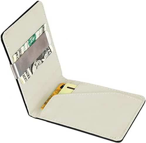 GPCT Bifold [Synthetic Leather] ID Wallet W/ Money Clip for Men/Boys. Compact [Lightweight] Built in 4 Card Clots & Keeps Everything Organized/Nearby