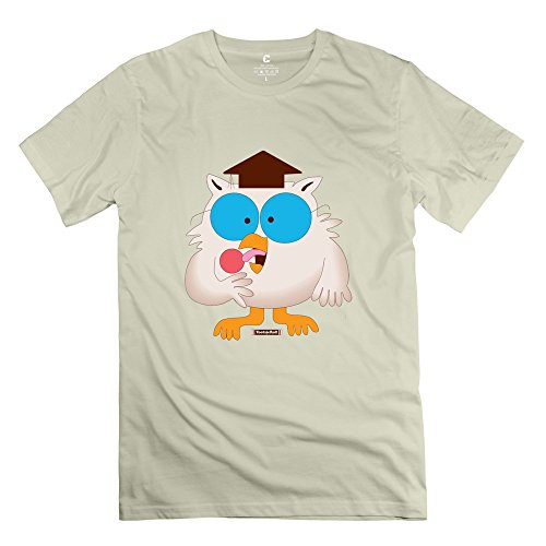 Price comparison product image YWT Tootsie Roll Pop Owl Men T-shirt Short Sleeve Funny Natural