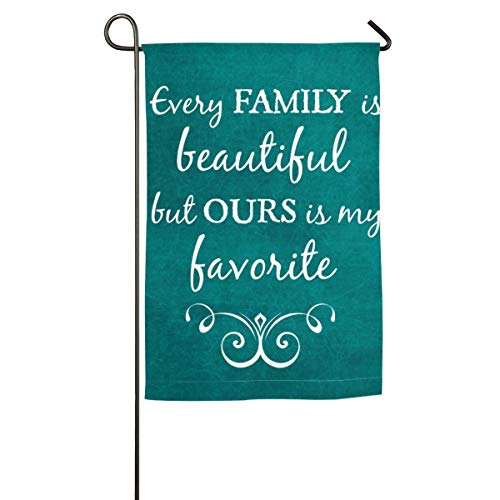 Private Bath Customiz Teal Quotes Inspirational Family Quote Love Expressions Words Beautiful Garden Flag House Banner Decorative Yard Flag for Wishing Party Home Outdoor Decor -
