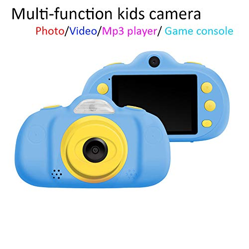 Multi-Functional Kids Camera with Playable Games, 2.4 Inch Display Children Digital Camera with MP3 Play, for Boys/Girls (Blue)