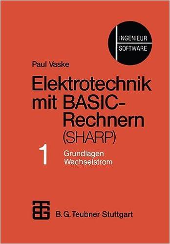 Amazon.com: Elektrotechnik mit BASIC-Rechnern (SHARP): Teil 1 ...