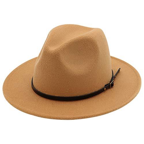 cc14eecbb95c2 8, DRESHOW Women Straw Panama Hat Fedora Beach Sun Hat Wide Brim Straw Roll  up Hat UPF