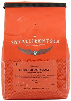 Intelligentsia El Diablo, Dark Roast, Whole Bean Coffee, 12-Ounce