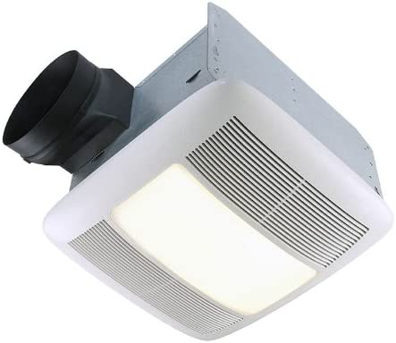 Broan-Nutone QTXEN080FLT Ultra-Silent Ventilation Fan, Quiet Exhaust Fan and Light for Bathroom and Home, ENERGY STAR Certified, 36-Watt Fluorescent Light, 0.3