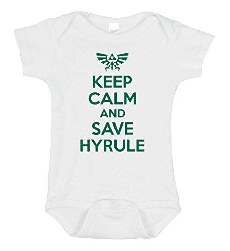 SARBIEN Designs Keep Calm and Save Hyrule Bodysuit (3-6 Months) from SARBIEN Designs