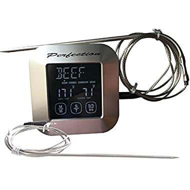 Digital Meat Kitchen Oven BBQ Cooking Probe Thermometer and Timer-Instant Read Touchscreen
