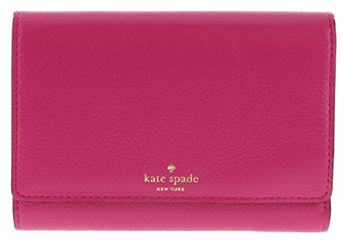 Kate Spade Grey Street Callie Pebbled Leather Wallet Clutch Purse (Sweetheart Pink)