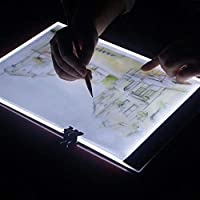 Ezonedeal A4 LED Light Tablet Pad USB Charging Copy Board Facsimile Board Light Table Gift A4 (dimmable) + 1.5m USB…