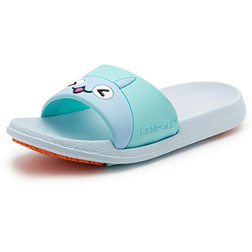 Women KENROLL Beach Slide Shower Flop Kids Blue Soft Sandals Slip Slippers and Non Flip Men for Shoes Light k Pool and Unisex 8xp4qarw8