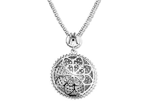 Luxury Silver Chaîne avec pendentif Femme en Argent 925/1000, Zirconium Blanc