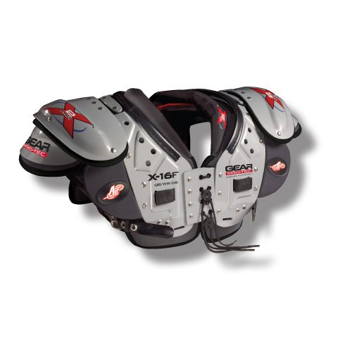 Pro-Tec Gear X2 AIR X-16F QB/WR/DB Football Shoulder Pads, Medium