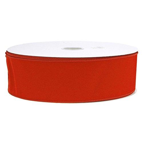 (Velvet Christmas Ribbon Wired Ege, Red, 2-1/2-Inch, 50 Yards)