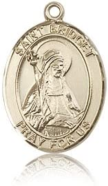 14 ktゴールド聖Bridget of Sweden medal