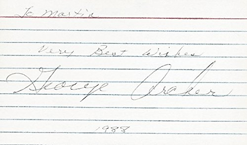 George Archer Autographed (FULL Signature) Golf RARE 3x5 Inch Index Card - 1969 Masters Champion - Deceased ()