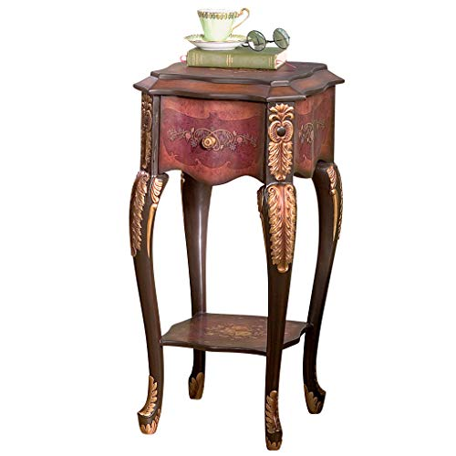 Design Toscano Floral Bouquet Chiffoniere Side Table