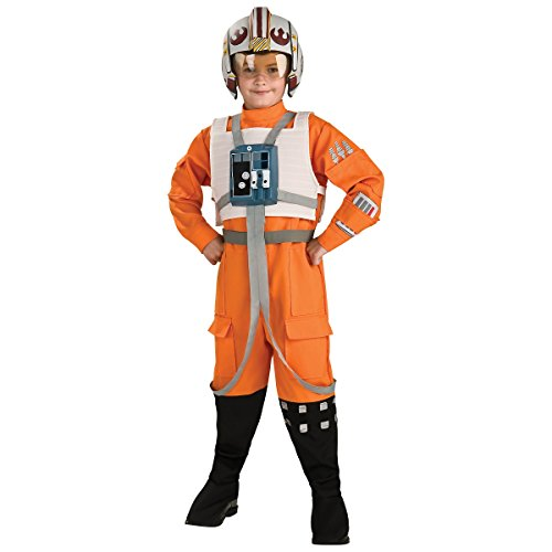 Star Wars X Wing Pilot (Rubie's Costume Kids Classic Star Wars Deluxe X Wing Fighter Pilot Costume, Small)
