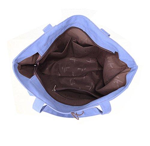 Coreano Wewod casual Moda De Bandolera Del Mensajero Bolsas Deportes Azul Retro Casual Viajes Nuevos Sencillo Bolsos Totalizador Mochilas Mujer Lona gWw4rgCqp