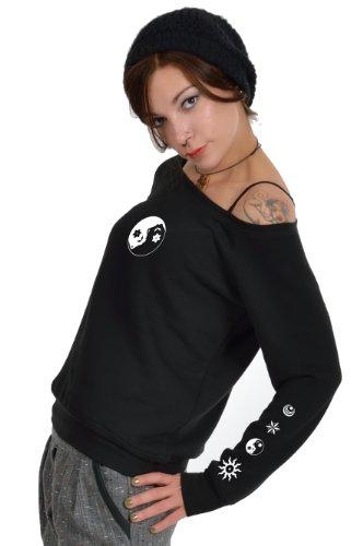Sweat Yin Noir Sans Pull 3elfen Bretelles Fée shirt Femme Yang dFwXdqnpv