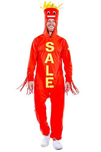Wacky Inflatable Tube Man Halloween (Tipsy Elves Men's Inflatable Sale Halloween Costume - Tube Man Onesie:)