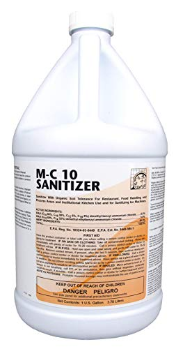 M-C 10 Sanitizer, 1 Gallon Concentrate, Yields 64 Gallons of Ready to Use Solution