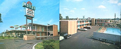 COLLECTIBLE POSTCARD: CROWN MOTEL /LANSING ILLINOIS /UNCIRCULATED /LANDSCAPE SIZE