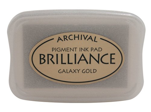 Tsukineko Brilliance Full-Size Pad, Galaxy Gold