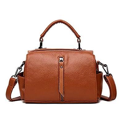 Amazon.com: Bolsas pequeñas de piel con cremallera para ...