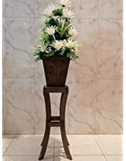 Artificial plants with a wooden base, height 120 cm