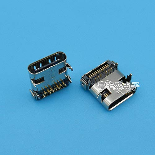 Gimax 100pcs 24P USB 3.1 Type C Connectors Port 3.1 USB Female 24 Pin Right Angle SMT Tab USB 3.1 Version Socket