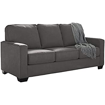 Signature Design by Ashley 3590136 Charcoal Contemporary Full Size Zeb Microfiber Upholstered Sleeper Sofa