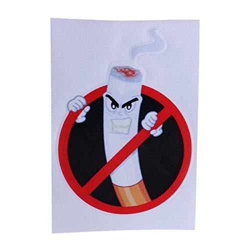 WEIXIE No Smoking Sign Art Decor Bumper Sticker Danger Car Sticker PVC Angry Cigarette Butt Funny No Smoking Warning Decal