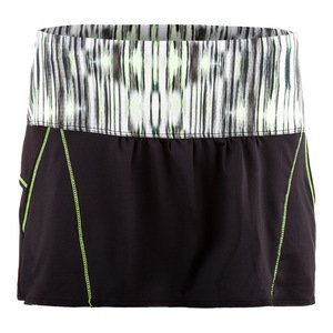 Lucky in Love Women's Into the Woods Chill Skirt Black/Lemon Frost (XLarge) (Lucky In Love Tennis Into The Woods)