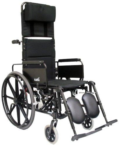 Karman-Healthcare-KM5000F16-Aluminum-Lightweight-Reclining-Wheelchair-Black-24-Rear-Wheels-and-16-Seat-Width