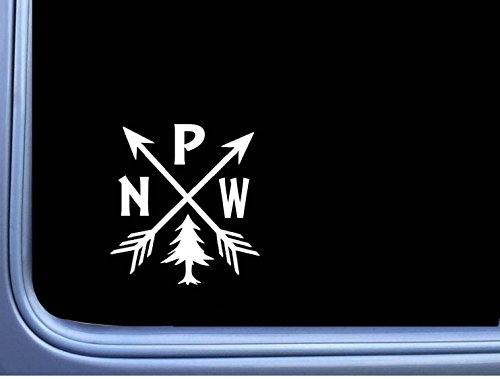 Pacific Northwest PNW Hiking Vinyl M114 6 Inch Sticker Decal camping arrows